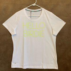"Adidas Graphic White Tee Shirt ""Hello Birdie"""